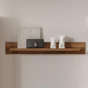 Montreal Wall Mounted Display Shelf In Walnut Satin