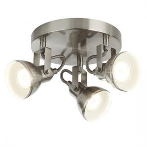 Focus Three Light Spotlight Disc In Satin Silver Finish