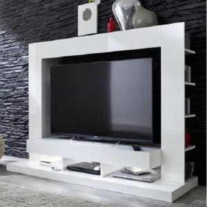 Stamford Entertainment Unit In White Gloss Fronts With Shelving_3