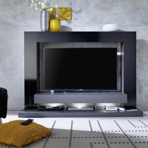 Stamford Entertainment Unit In Black Gloss Fronts With Shelving_3