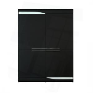 Merida Storage Cabinet In Black Lacquer With 4 Doors And LEDs