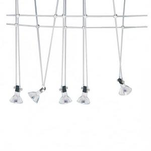 Chrome Five Light Cable Kit With Adjustable Spotlights