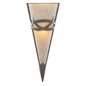 Toga Rustic Bronze Wall Light With Amber and Frosted Glass