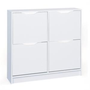 Crick Shoe Storage Cabinet In White With 4 Doors