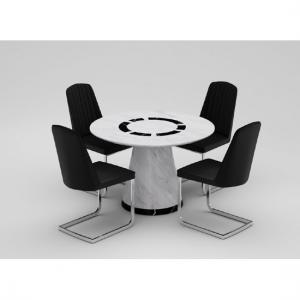 Sonati Marble Effect Circular Dining Table Only