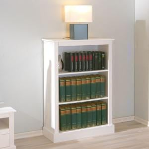 Stanley 3 Tier Wooden Bookcase In White