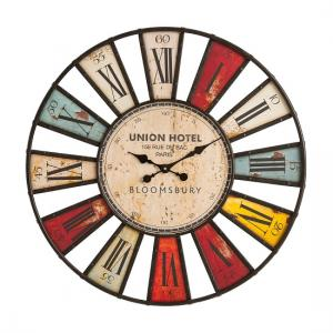 Radcliff Designer Wall Clock In Vibrant Finish And Iron
