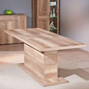 Utopia Extendable Dining Table In Wild Oak