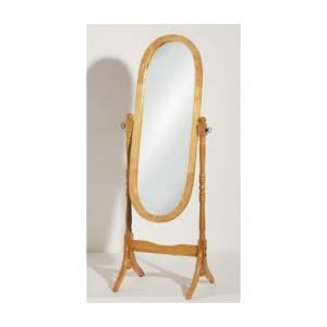 Oval Floor Standing Mirror In Oak