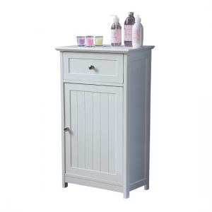 Bathroom Floor Standing Storage Cabinet In White