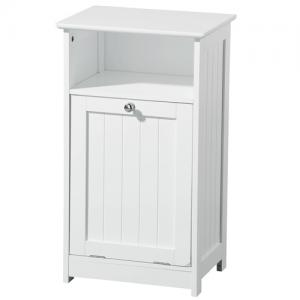 Floor Standing Wooden Bathroom Cabinet In White