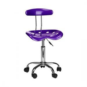 Hanoi Office Chair In Purple ABS With Chrome Base And 5 Wheels