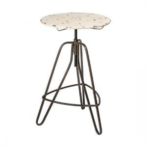 Picador Artisan Bar Table In Cream Metal Finish