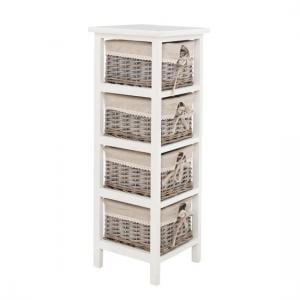 Mesan Chest of Drawers In Paulownia Wooden Frame With 4 Drawers