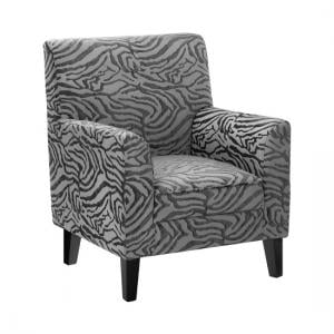 Wembley 1 Seater Sofa In Grey Fabric With Wooden Legs