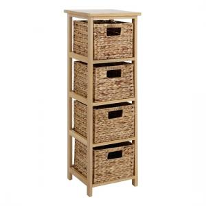 Maize Chest of Drawers In Natural Wooden Frame With 4 Drawers