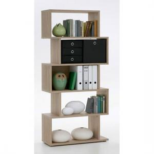 Kubi Shelving Unit In Canadian Oak With 5 Compartments