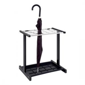 Luis Modern Umbrella Stand In Black Chrome