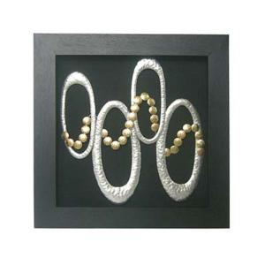 Framed Hammered Circles Wall Art