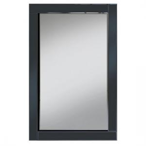 Bevel 120x80 Wall Mirror In Smoke Grey Glass Border