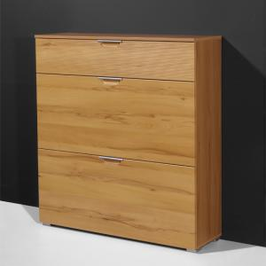 Village Core Beech 3 Drawer Shoe Cabinet