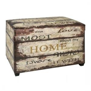 Home Vintage Contemporary Trunk Bench With Storage