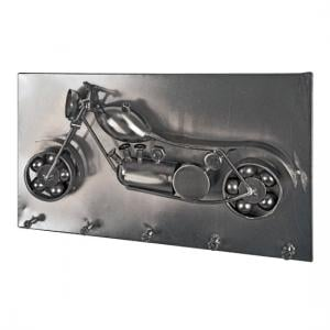 Chopper Wall Mounted Coat Rack In Black Nickel With 5 Hooks