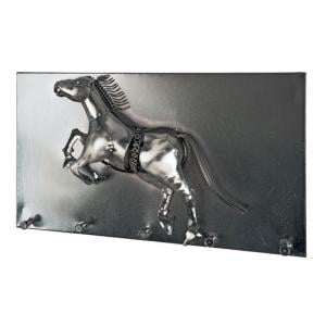 Horse Wall Mounted Coat Rack In Black Nickel With 5 Hooks