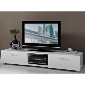 Genie LCD TV Stand In White High Gloss