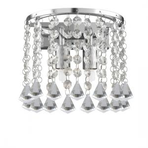 Hanna 2 Lamp Wall Light Finished In Chrome With Crystal Buttons