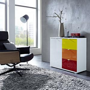 Colorado Sideboard In White With 1 Door And 3 Drawers