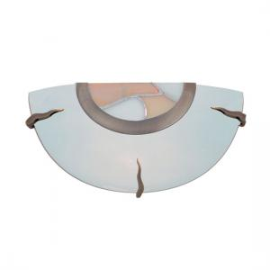 Single Wall Light With Tiffany and Frosted Glass Detail