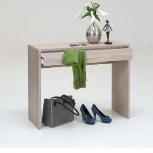 Checker Console Table In Canadian Oak With 1 Drawer