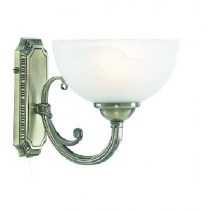 Windsor Antique Brass Wall Light With Alabaster Glass Shade