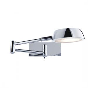 Chrome 1 Lamp Adjustable Wall Light With Swing Arm
