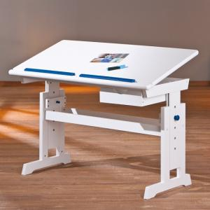 Berito Children Computer Desk In White With Pink And Blue Alter_2