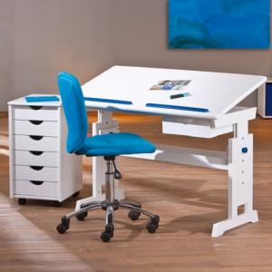 Berito Children Computer Desk In White With Pink And Blue Alter_6