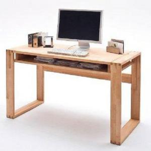 Jasmin Solid Core Beech Computer Desk With 1 Shelf