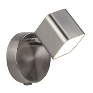 Quad Square Head Spot Wall Bracket In Satin Silver