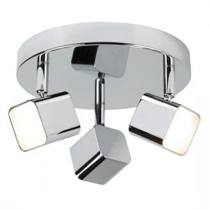 Quad Chrome Head Spot Plate With Three Sqaure LED