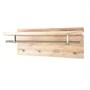 Pablo3 Wall Mounted Coat Rack In San Remo Oak With 4 Hooks