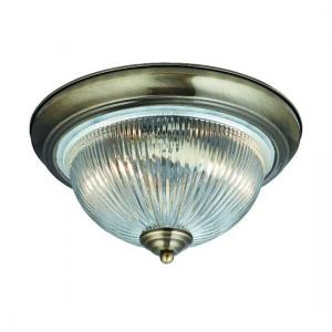 American Diner Bathroom Ceiling Lamp In Antique Brass Finish