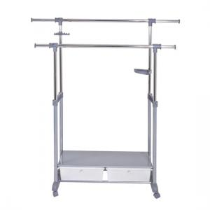 Thomas 1 Double Clothes Rack Railing With 2 Plastic Drawer