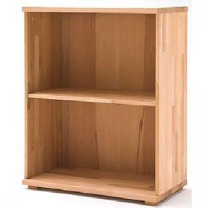 Cento Solid Core Beech Low Board Shelving Unit With 2 Shelf