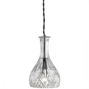 Decanter Wine Bar 1 Lamp Round Glass Pendant
