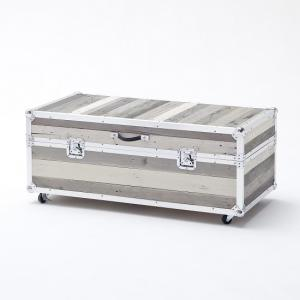 Camber Trunk Coffee Table In Grey With Aluminium Frame