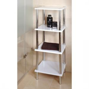 4 Tier High Gloss White Display Stand