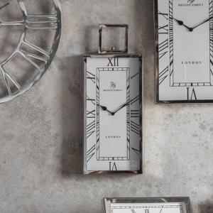 Jarvey Small Wall Clock In Polished Aluminium Frame