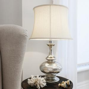 Minx Table Lamp With Fluted Cream Drum Shade
