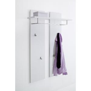 Odessa White Gloss Wall Mounted Coat Stand